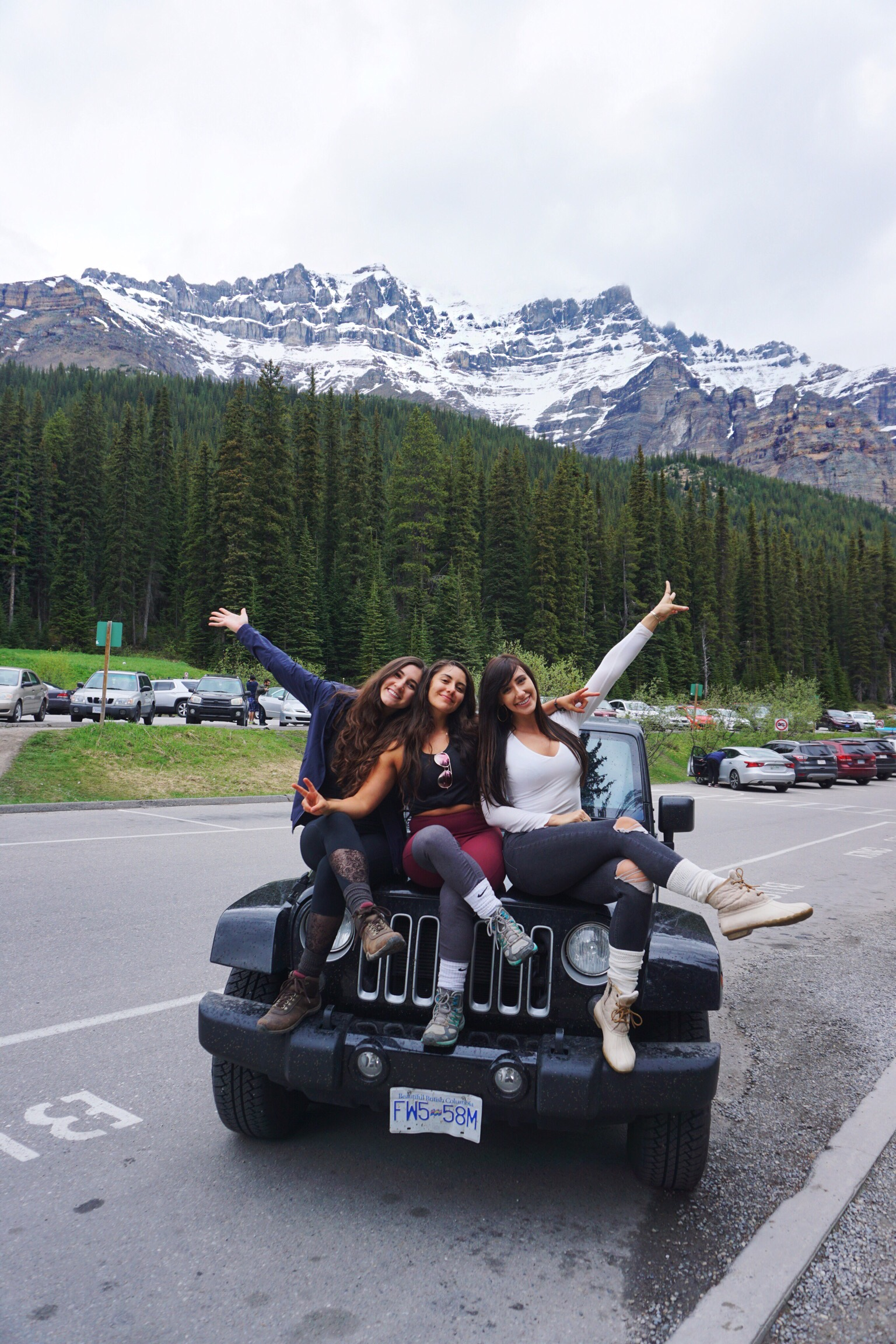 Banff National Park in a Jeep